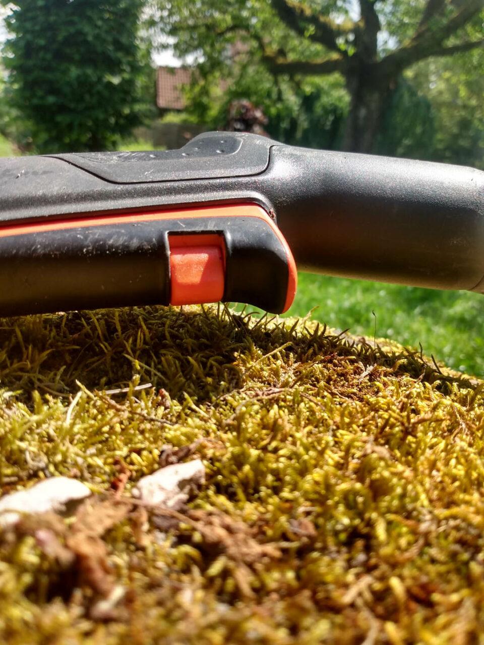 arretierbarer Impulsauslöser an der Gartenbrause